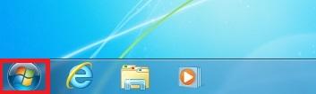 Windows7スタートボタンをクリックして「スタートメニュー」を表示させます