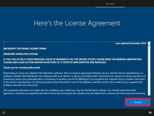 ライセンスが表示されますので確認して「Accept」をクリックします