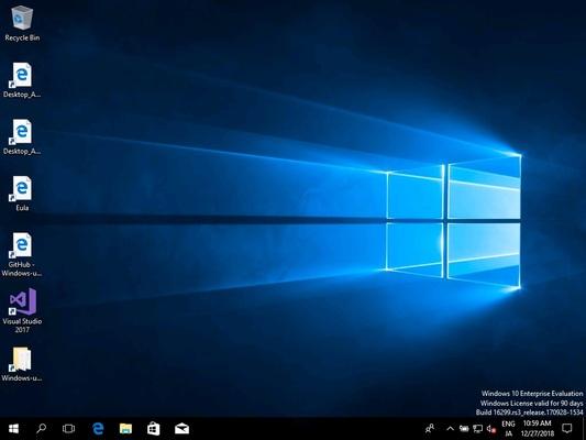 Windows10の仮想環境が起動されます